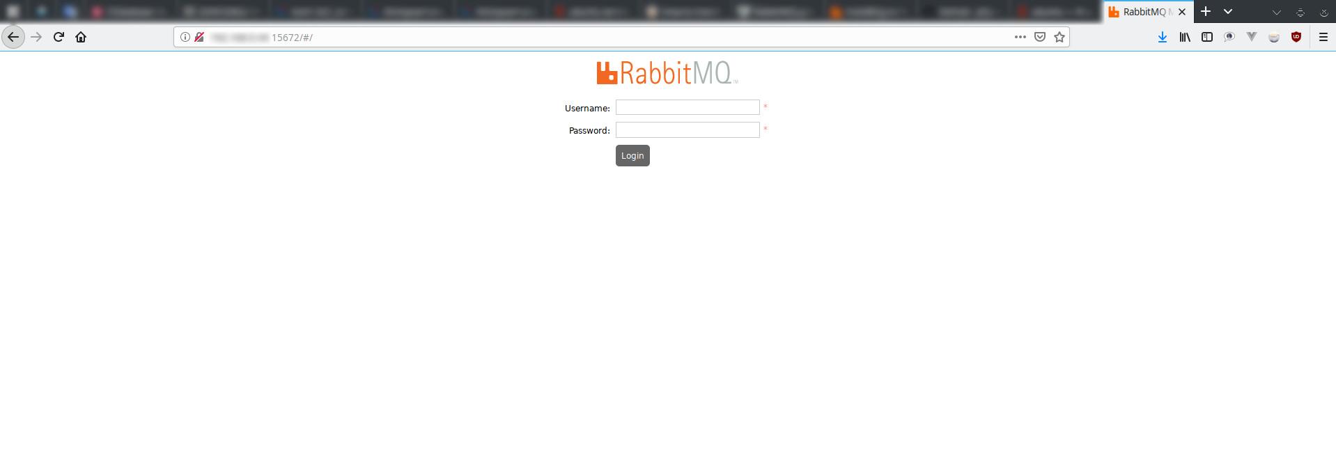 RabbitMQ вход